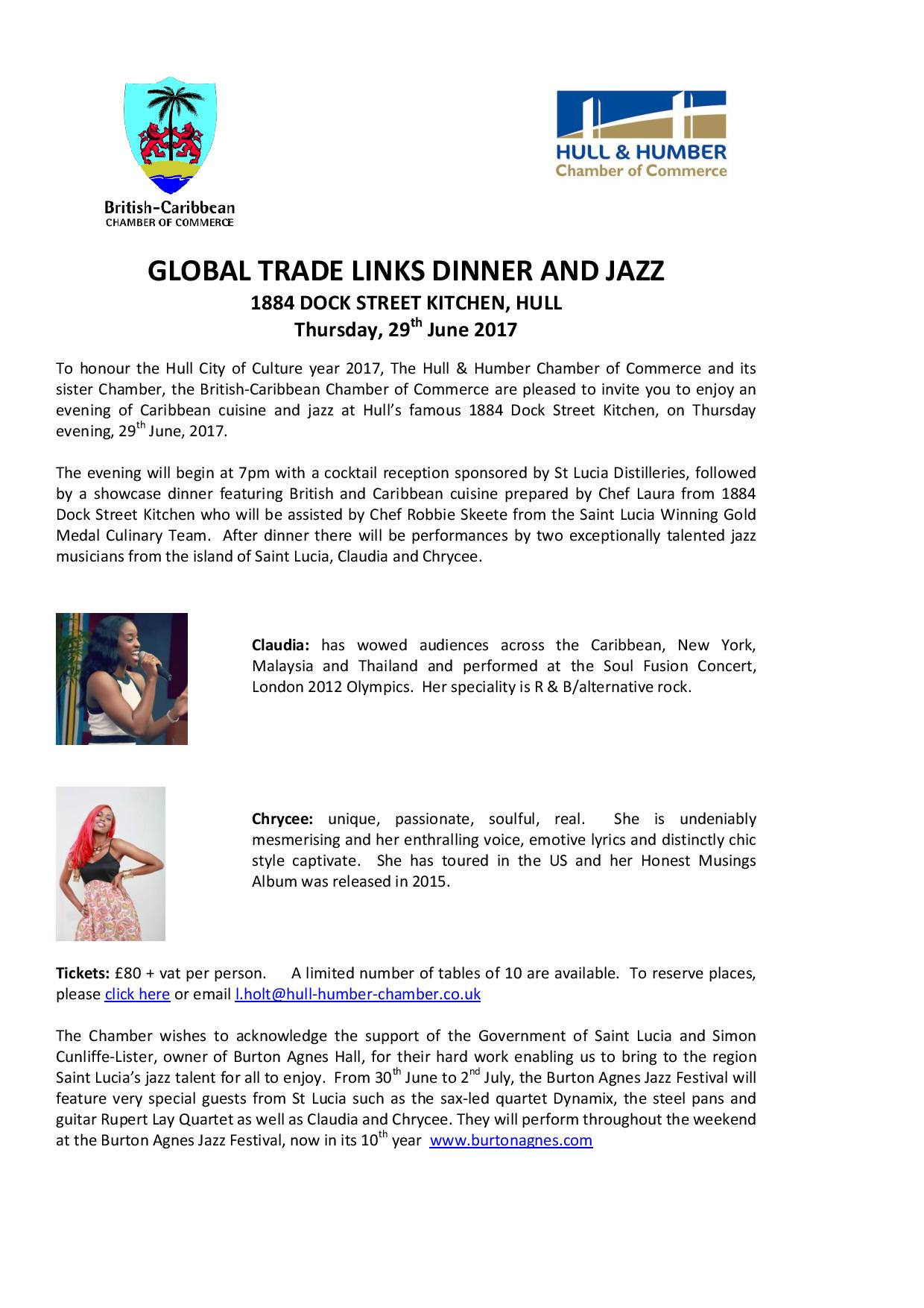 Global trade links dinner and jazz hull music hub email stopboris Choice Image